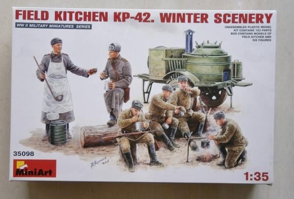 Miniart 35098 1//35 Field Kitchen KP-42 Winter Scenery