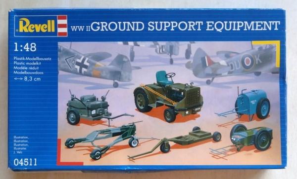 REVELL 1/48 04511 WWII GROUND SUPPORT EQUIPMENT Model Kit