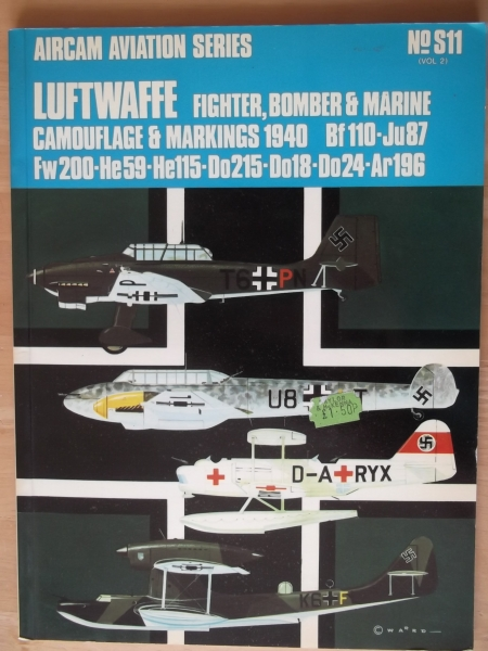 S11. LUFTWAFFE CAMOUFLAGE AND MARKINGS VOLUME 2 1940