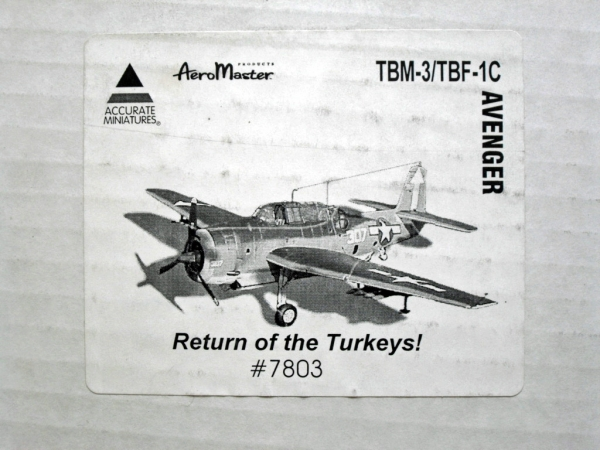 7803 TBM-3/TBF-1C AVENGER RETURN OF THE TURKEYS