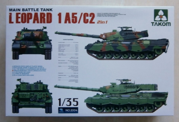TAKOM 1/35 2004 LEOPARD 1 A5/C2 MAIN BATTLE TANK