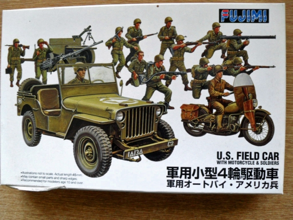 76070 US FIELD CAR WITH MOTORCYLE AND SOLDIERS