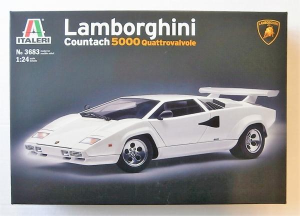 Italeri 1 24 3683 Lamborghini Countach 5000 Quattrovalvole Model Kit