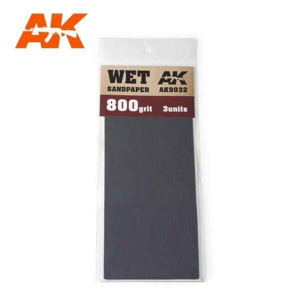9032 3 X WET SANDPAPER 800 GRIT