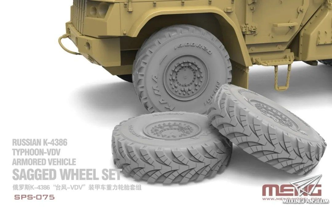 SPS-075 RUSSIAN K-4386 TYPHOON-VDV ARMORED VEHICLE SAGGED WHEEL SET