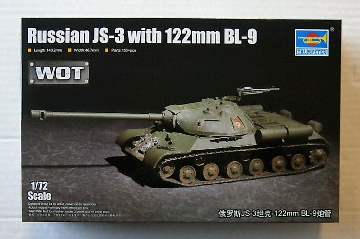07163 RUSSIAN JS-3 W/ 122mm BL-9