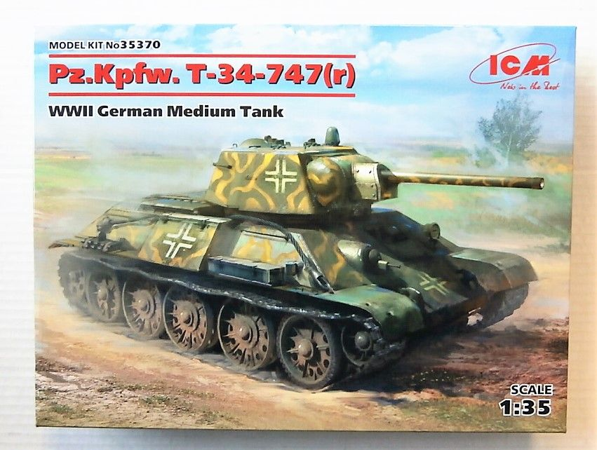 35370 PZ.KPFW. T-34-747 r  WWII GERMAN MEDIUM TANK
