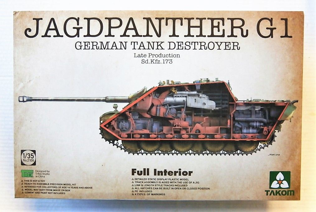 2106 SD.KFZ.173 JAGDPANTHER G1 LATE PRODUCTION FULL INTERIOR