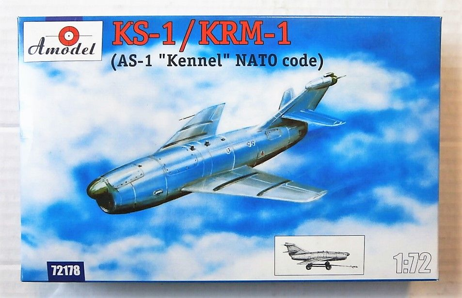 "KS-1//KRM-1 AS-1 /""Kennel/"" NATO code Amodel 72178-1//72 scale plastic model"