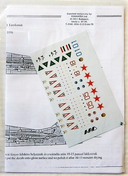 2296. HUNGARIAN ARMOUR DECALS 72013 MiG 29