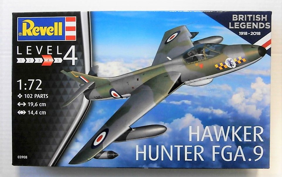 03908 HAWKER HUNTER FGA.9 - BRITISH LEGENDS 1918 - 2018