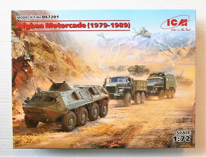 1979-1989 ICM DS7201 Afghan Motorcade in 1:72 4 Vehicles