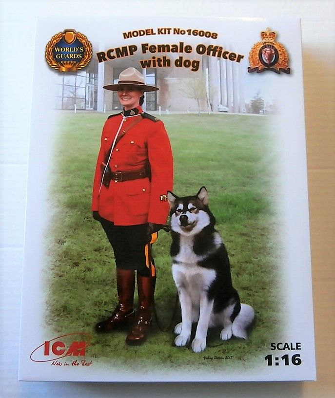 ICM 1//16 RCMP Female Officer with Dog