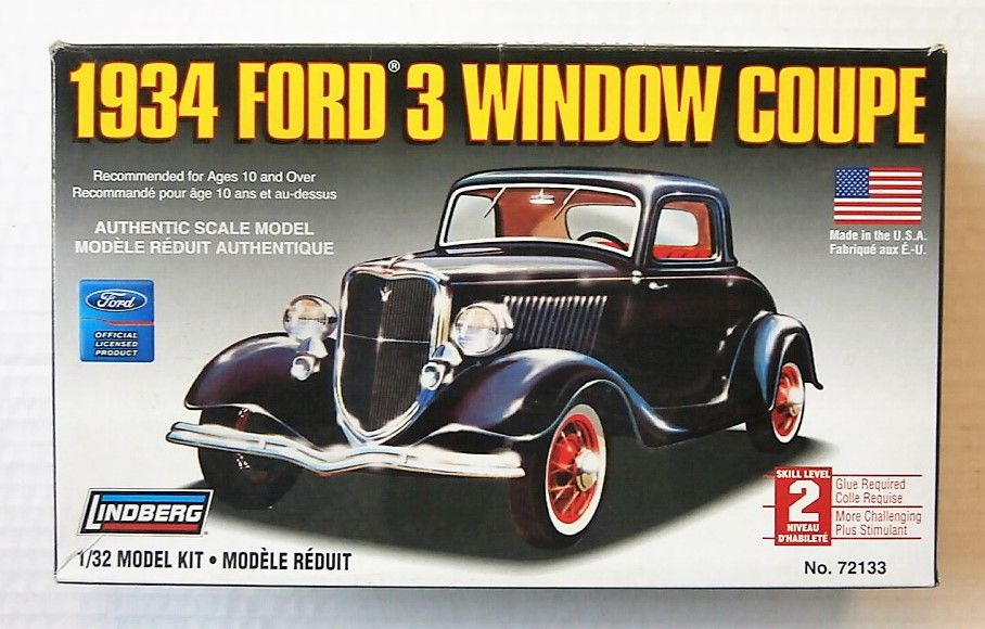 72133 1934 FORD 3 WINDOW COUPE