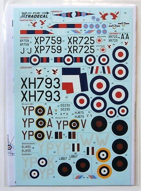 XTRADECAL 1/72 72091 RAF 23 SQUADRON HISTORY