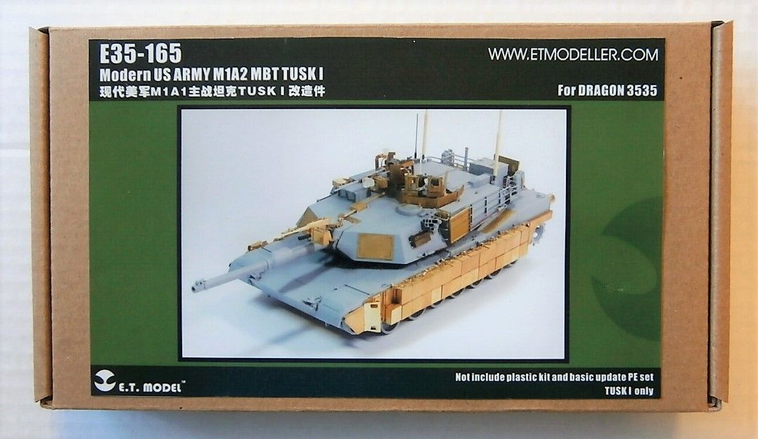 E35-165 MODERN US ARMY M1A2 MBT TUSK I FOR DRAGON 3535