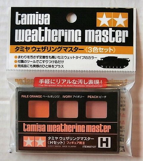 87127 WEATHERING MASTER H SET  FOR FIGURES II  - PALE ORANGE/IVORY/PEACH