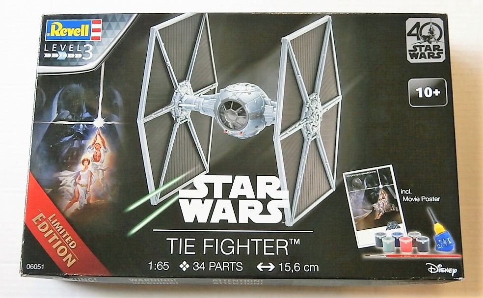 REVELL 1/65 06051 STAR WARS TIE FIGHTER (NO PAINTS OR GLUE)
