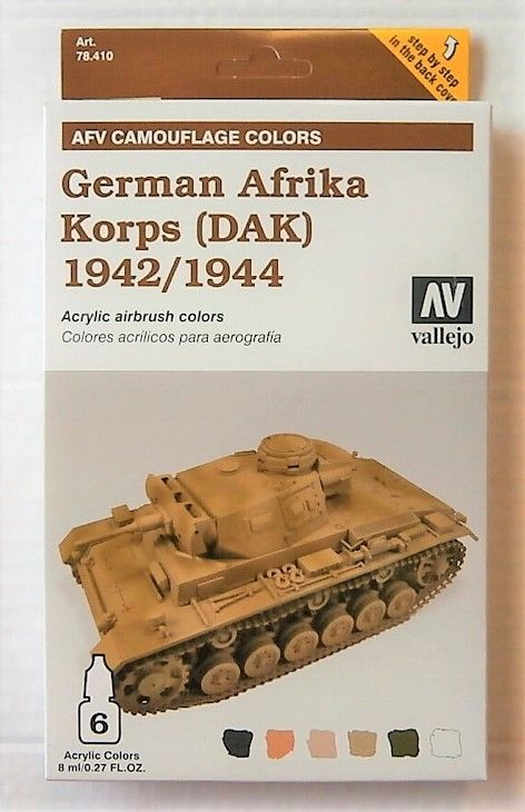78410 AFV CAMOUFLAGE COLORS GERMAN AFRIKA KORPS DAK 1942/44