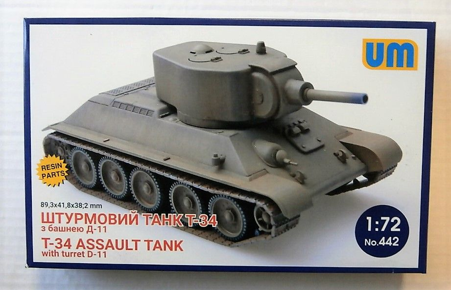 442 T-34 ASSAULT TANK WITH TURRET D-11