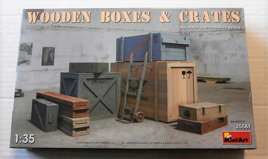 35581 WOODEN BOXES AND CRATES