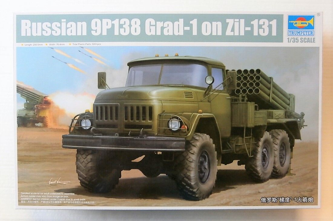 01032 RUSSIAN 9P138 GRAD-1 ON ZIL-131