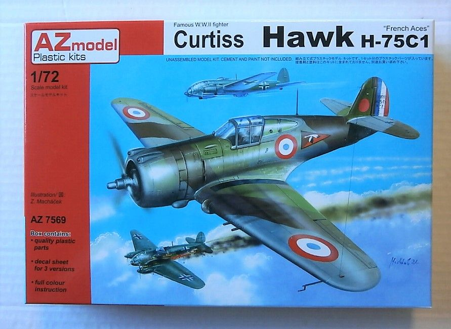 7569 CURTISS HAWK H-75C1  FRENCH ACES