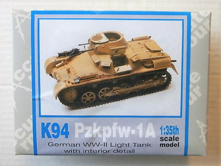 K94 PZKPFW-1A GERMAN WWII LIGHT TANK