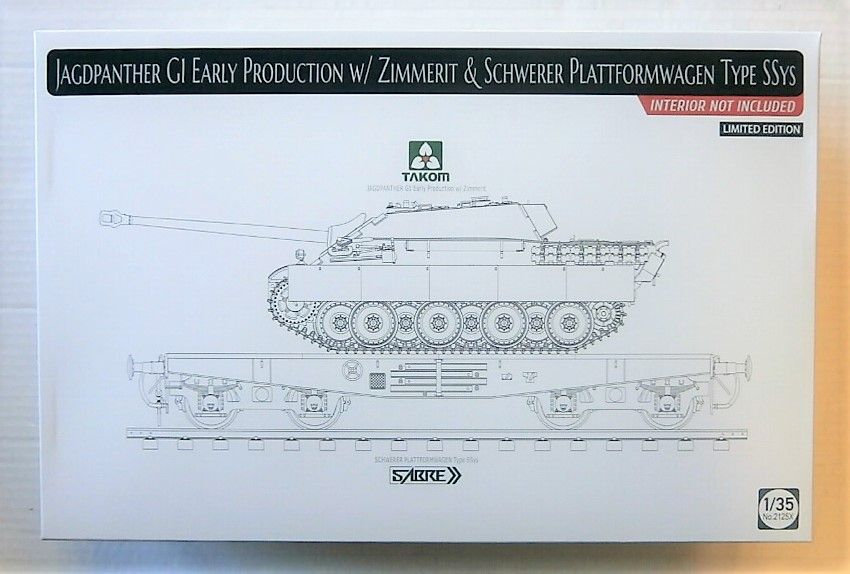 2125X JAGDPANTHER GI EARLY PRODUCTION WITH ZIMMERIT   SCHWERER PLATTFORMWAGEN TYPE SSYS