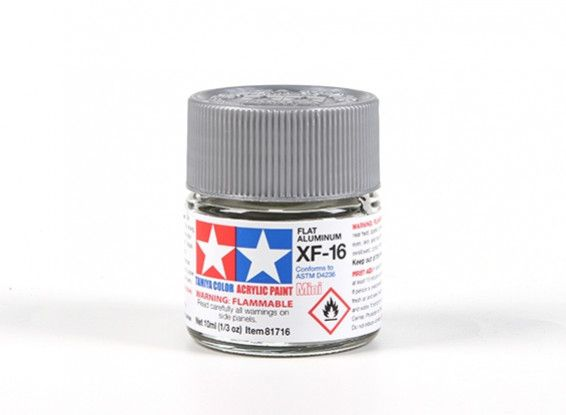 81716 XF-16 FLAT ALUMINIUM ACRYLIC PAINT  UK SALE ONLY