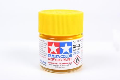 81703 XF-3 FLAT YELLOW ACRYLIC PAINT  UK SALE ONLY