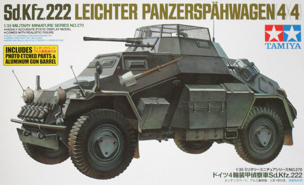 35270 Sd.Kfz 222 WITH PHOTO ETCHED PARTS