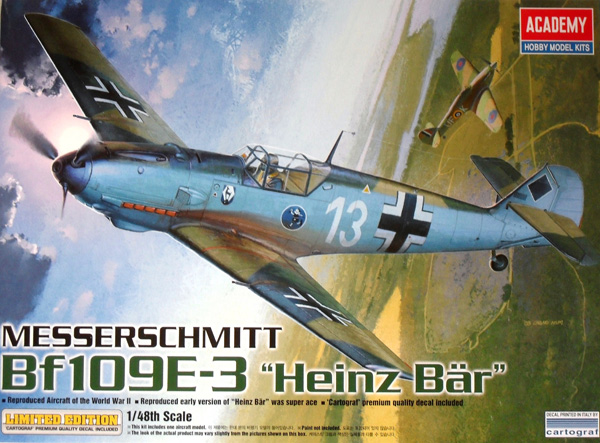 12216 MESSERSCHMITT Bf 109E-3 HEINZ BAR