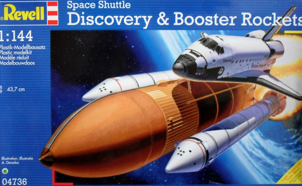04736 SPACE SHUTTLE DISCOVERY   BOOSTER ROCKETS