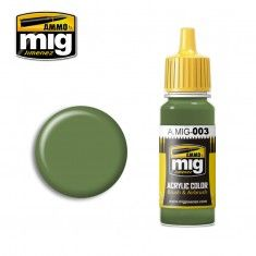 AMMO BY MIG JIMENEZ  0003 RESEDA GREEN 17ml ACRYLIC PAINT FOR BRUSH   AIRBRUSH