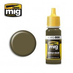 AMMO BY MIG JIMENEZ  0005 GREY GREEN 17ml ACRYLIC PAINT FOR BRUSH   AIRBRUSH