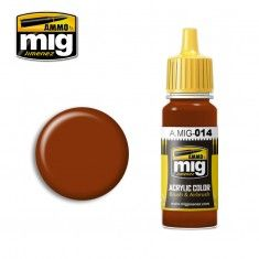 AMMO BY MIG JIMENEZ  0014 RED BROWN 17ml ACRYLIC PAINT FOR BRUSH   AIRBRUSH