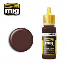AMMO BY MIG JIMENEZ  0015 CHOCOLATE BROWN 17ml ACRYLIC PAINT FOR BRUSH   AIRBRUSH