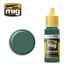 AMMO BY MIG JIMENEZ  0018 WAFFEN SS POLICE GREEN 17ml ACRYLIC PAINT FOR BRUSH   AIRBRUSH