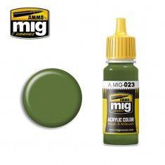 AMMO BY MIG JIMENEZ  0023 PROTECTIVE GREEN 17ml ACRYLIC PAINT FOR BRUSH   AIRBRUSH