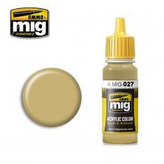 AMMO BY MIG JIMENEZ  0027 GERMAN SSAND BEIGE 17ml ACRYLIC PAINT FOR BRUSH   AIRBRUSH