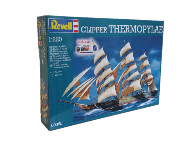 REVELL 1/220 00365 CLIPPER THERMOPYLAE GIFT SET - LIMITED STOCKS