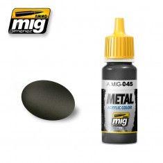 AMMO BY MIG JIMENEZ  0045 GUN METAL 17ml ACRYLIC PAINT FOR BRUSH   AIRBRUSH