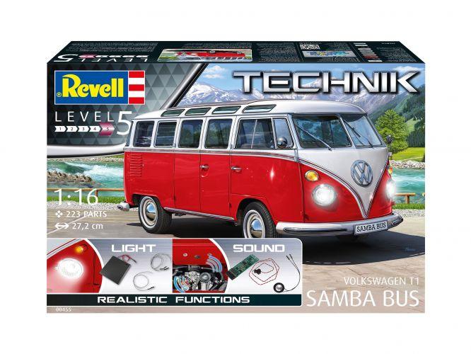REVELL 1/16 00455 VOLKSWAGEN T.1 SAMBA BUS - TECHNIK  UK SALE ONLY