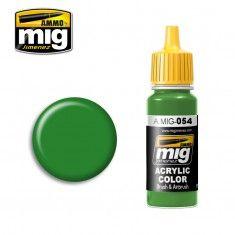 AMMO BY MIG JIMENEZ  0054 SIGNAL GREEN 17ml ACRYLIC PAINT FOR BRUSH   AIRBRUSH
