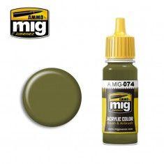 AMMO BY MIG JIMENEZ  0074 GREEN MOSS 17ml ACRYLIC PAINT FOR BRUSH   AIRBRUSH