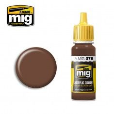 AMMO BY MIG JIMENEZ  0076 BROWN SOIL 17ml ACRYLIC PAINT FOR BRUSH   AIRBRUSH