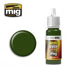 AMMO BY MIG JIMENEZ  0092 CRYSTAL GREEN 17ml ACRYLIC PAINT FOR BRUSH   AIRBRUSH