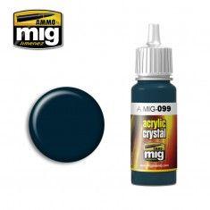 AMMO BY MIG JIMENEZ  0099 CRYSTAL BLACK BLUE 17ml ACRYLIC PAINT FOR BRUSH   AIRBRUSH