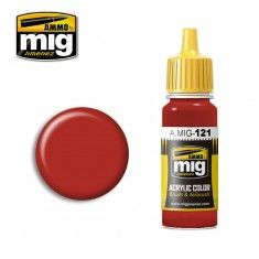AMMO BY MIG JIMENEZ  0121 BLOOD RED 17ml ACRYLIC PAINT FOR BRUSH   AIRBRUSH
